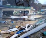 山田B&G海洋センター前:壊れたボート