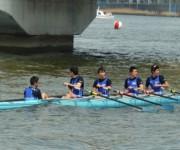 試合後の山田高校漕艇部選手たち